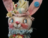 Bucky OOAK Art Doll Bottle Bunnie