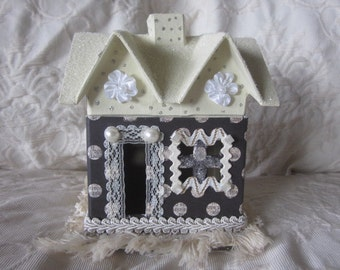 French shabby chic house, decoration, one of a kind