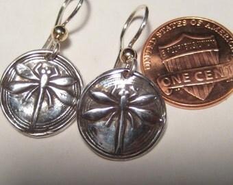 Sterling Silver Dragonfly earrings ............      e748