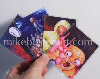 Trading Card Set - 4 pc Fan Art Series by Mike Boston