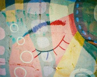 Austin Street Art - Abstract Double Exposure Lomography Photograph