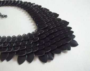 Night Fury Black Dragon Scale Necklace