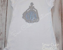 Personalized Princess Cinderella Silhouette Inspired Monogram Princess Dress Girls short tank long sleeve embroidered sew cute creations