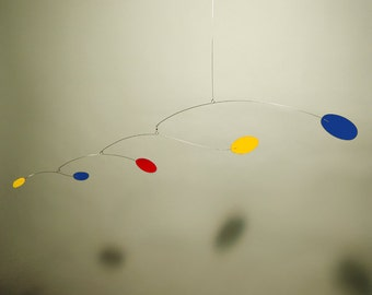 Calder Inspired Hanging Art Mobile Baby Decor Wind Kinetic Sculpture Modern Nursery Retro MCM