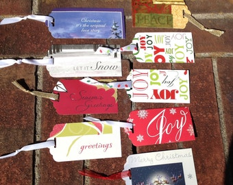 Lot 9 Christmas Words Gift Tags