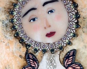 Love Within Folk Art Angel Goddess by Barbara McGuire