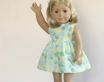 """The Party Dress and Hat PDF Pattern for 18"""" AG and 15"""" Waldorf Dolls"""