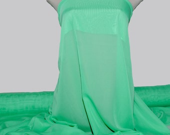 "Hi-Multi Chiffon fabric SEAFOAM /green  60"" wide sold by the yard.. formal..pageant...bridesmaids gowns..decor..curtains"