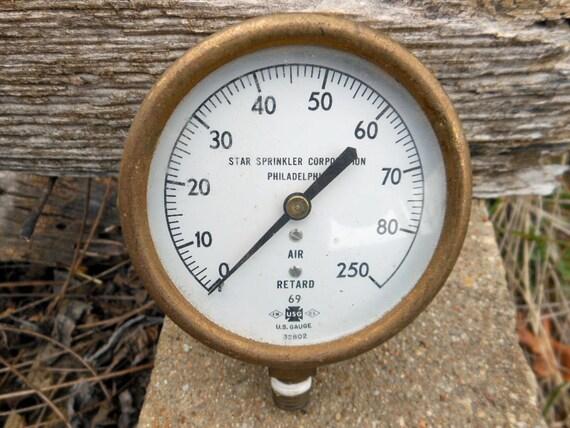 Vintage steampunk pressure gauge industrial chic by rusticremakes - Steampunk pressure gauge ...