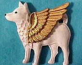 SAMOYED Angel Pin Brooch.American Eskimo Dog. Jewelry Gift for Her. Sammy Wearable Art Gifts.Eskie Pet Loss Memorial Remembrance by Cloud K9