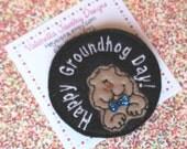 Groundhog Day oversized hair clippie (ONE CLIP)