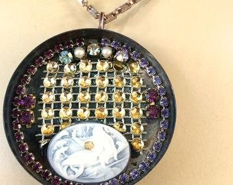 Pendant Necklace - Little Mermaid, Mermaid jewelry, Mermaid necklace, Victorian Jewelry,  Steampunk, Steampunk Jewelry, Steam Punk