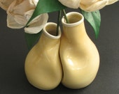 Delicate Yellow Vase Pair - Engagement gift for couple - Unique engagement gift