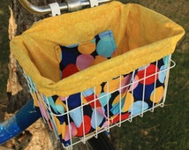 Lots of Dots Bike Basket Liner and Purse in One
