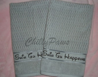 Hand Towel - Embroidered - Set of Two (2) Towels