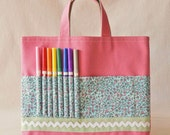 Crayon Tote Crayon Bag READY To SHIP ARTOTE in Little Meadow Sweet