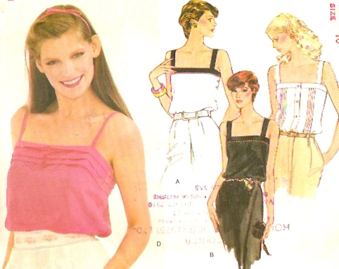 Spring Summer Camisoles tops sewing pattern Vogue 7607 Sz 10 Uncut Casual style