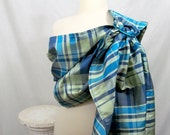 Silk Ring Sling Double Layer - Vibrant Plaid - 100% dupioni silk DVD included