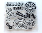 Clear Stamps, By K&Co, 10 Reasons I love You, Sweet Scoop, Arrows, Acrylic Clear Stamp Set, Card Making Stamp Set