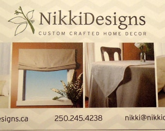 NikkiDesigns Gift Certificates, Gift Card