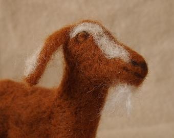 Needle felted goat...'Josie'