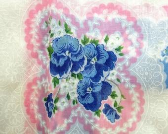Pansy Handkerchief Vintage