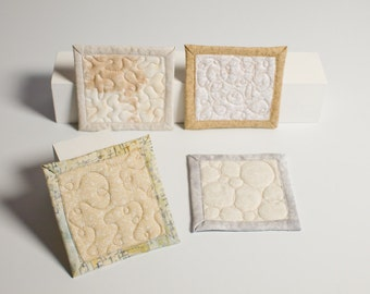 quilted coasters - Desert Bone VIII - ready to ship