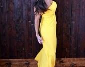 Strapless Gold Maxi Dress, Strapless Dress, Maxi Dress, Gold Dress, Firedaughter Clothing Maxi, Summer Dress, CLEARANCE SALE