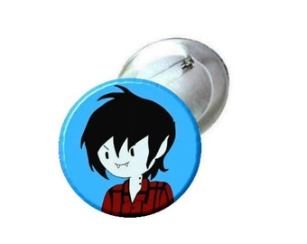 """1"""" 1.25"""" or 2.25"""" Pinback Button - Adventure Time Vampire Marshall Lee"""