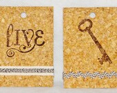 Set of 2 Cork Gift Tags