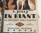 1931 French Learning to Read School Reader  Reading without Tears French School Book