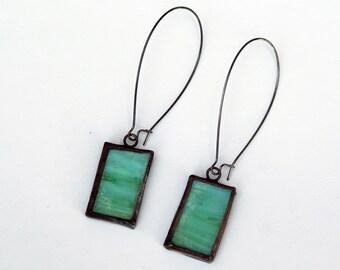 EARRINGS - Stained Glass Earrings - Kidney Wire Earrings