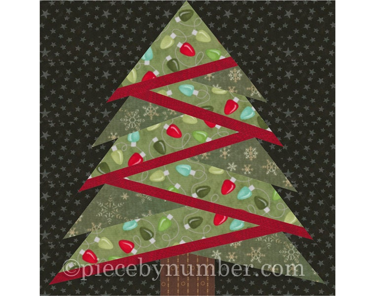 Pine Tree Quilt Block Pattern Paper Piecing Quilt Pattern