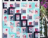 PDF pattern Instant Download SKOPELOS WINDOWS modern quilt by Katarina Roccella