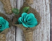 Turquoise Boutonniere