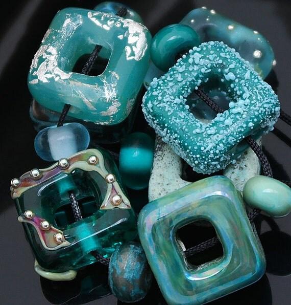 DSG Beads Handmade OrGaNiC Lampwork Glass ~Mermaid Splash~