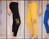 Harry Potter Hogwarts House Crest Stretch Knit Leggings Adult All Sizes MTCoffinz - Choose your House Colors