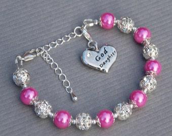 Goddaughter Gift, Goddaughter Jewelry, Gift from Godmother, Goddaughter Bracelet, Religious Gift, Gift for Goddaughter