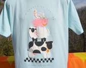 vintage tee shirt 80s NEW MEXICO ruidoso lonely at top farm animal t-shirt XL Large soft wtf