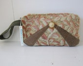 Velvet Wristlet by Tiny Marie Leather Accent
