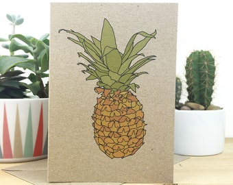 pineapple card (100% recycled)