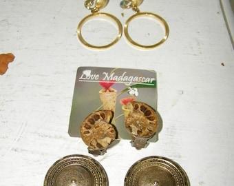 5 Pairs Vintage Clip on Earrings 6642