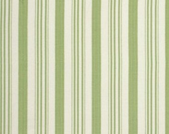 FAT QUARTER, Tanya Whelan Fabric - Barefoot Roses, Legacy Collection, Ticking in Green, Stripe