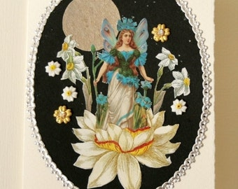 Handmade Card Spring Flower Collage