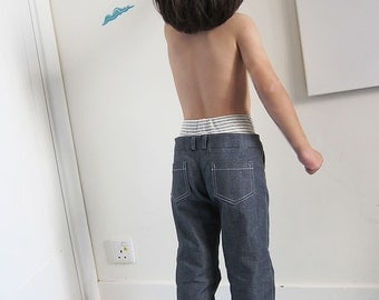 PDF Sewing Pattern - Double Waist Pants / Trousers for children - 3 sizes - between 1Y to 7Y