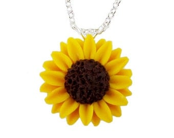 Sunflower Necklace - Sunflower Jewelry Collection