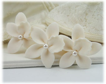 White Orchid Hair Pins - Orchid Hair Accessories
