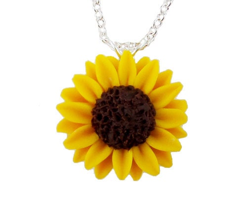 Sunflower Necklace Sunflower Jewelry Collection