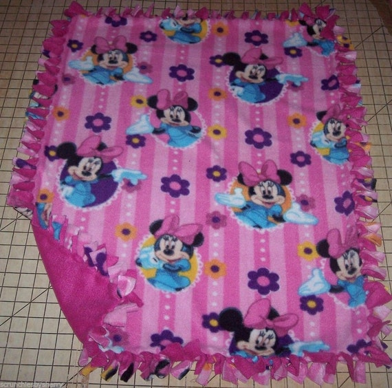 Disney Pink Minnie Mouse Fleece Baby Blanket Pet Lap Security