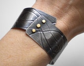 Silver and Gold Cuff Bracelet